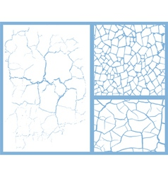 cracked set vector image