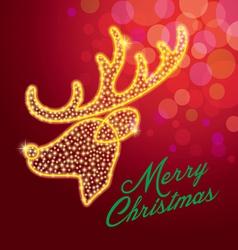 Deerreindeermerry christmasstar vector