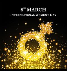 elegant international womens day background vector image vector image