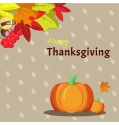 Greeting card template for Thanksgiving Day vector image