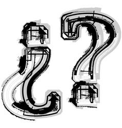 Grunge symbol vector image vector image