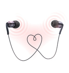 Headphones earplugs poster vector