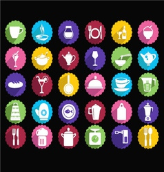 kitchen Set of tableware icons vector image vector image