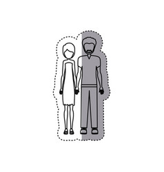 people couple together icon vector image vector image
