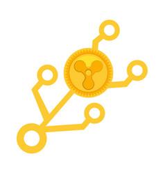 Quarkcoin money golden virtual vector