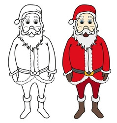 Santa claus colouring vector image