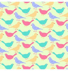 Seamless pattern of different colored wild birds vector image vector image