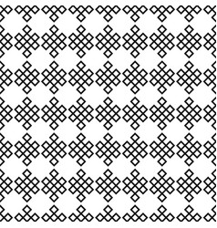 seamless pattern of the endless knots palbeu vector image
