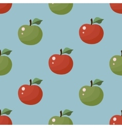 Seamless Texture Apple pattern vector image vector image