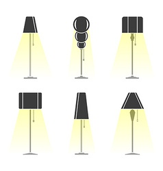 Set of lamps vector image