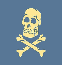 Skull and cross bone in retro style vector