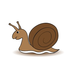 snail cartoon on white background vector image