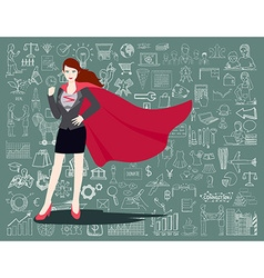 Super business woman vector