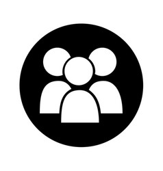 Teamwork silhouette isolated icon vector