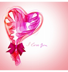 Valentine card with abstract heart vector
