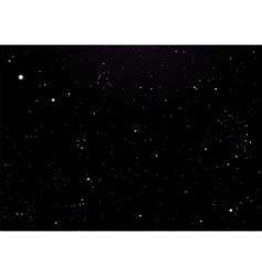 Night sky dark with stars vector
