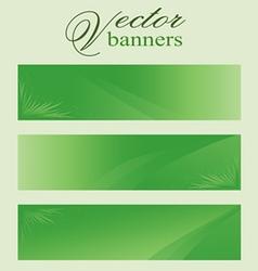 Set of green banners headers eco bio vector image
