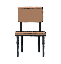 chair seat furniture wooden style vector image