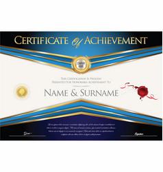 Certificate or diploma retro design collection vector