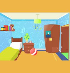 children bedroom interior vector image