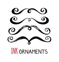 Ink ornaments vector