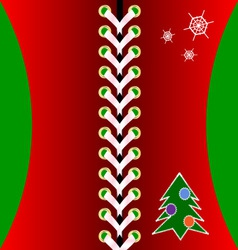Christmas red lacing vector image