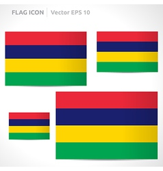 Mauritius flag template vector
