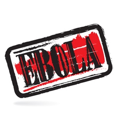 Ebola grunge rubber stamp vector
