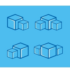 ice cube logo or symbol icon vector image
