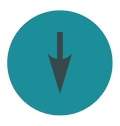 Sharp down arrow flat soft blue colors round vector