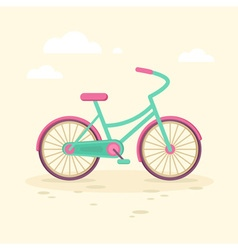 Colorful flat elegant bicycle vector