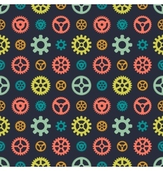 Colored gears seamless pattern vector