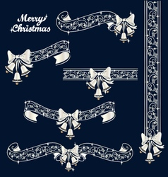 Christmas lace tape vector
