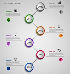 Time line info graphic abstract with colorful vector