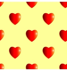 Seamless background of shiny hearts vector