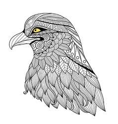 Eagle coloring page vector