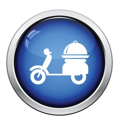 Delivering motorcycle icon vector