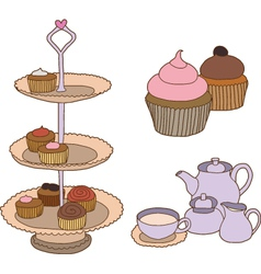 Afternoon tea vector image vector image