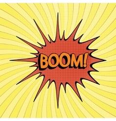 cartoon bang2-3 vector image vector image