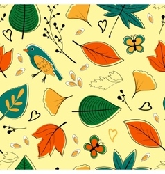 Colorful autumn seamless pattern vector image