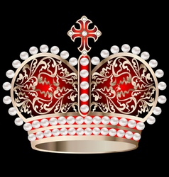 Crown with pearls vector