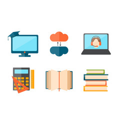 Education and school web icon vector
