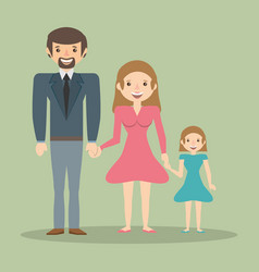 family parents child member vector image vector image