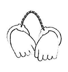 figure hand with handcuffs icon image vector image