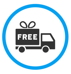 Free shipment rounded icon vector