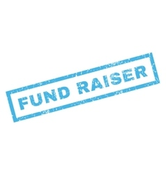 Fund Raiser Rubber Stamp vector image