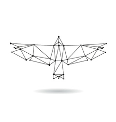 Geometric bird design silhouettet vector
