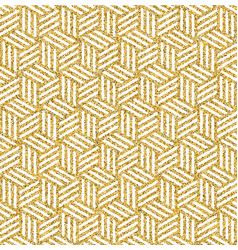 Gold glitter abstract isometric seamless pattern vector