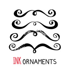 Ink ornaments vector