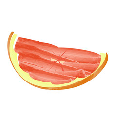 Isolated grapefruit cut vector